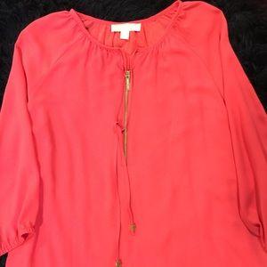 Michael Kors brand orange blouse